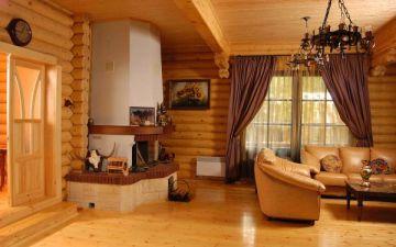 Все доступные варианты внутренней отделки деревянного дома. Деревянные дома внутри на фото
