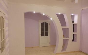 Как сделать арку из гипсокартона в стене или дверном проеме? Арочные проемы межкомнатные