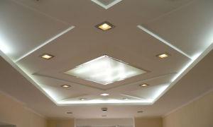 Типы и монтаж потолков из ГКЛ с подсветкой. Устройство короба и виды светильников