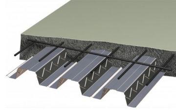 Устройство монолитного бетонного перекрытия по профнастилу –применение, специфика, особенности
