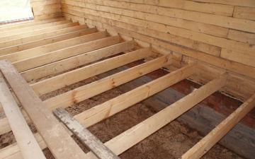 Устройство пола в деревянном доме. Как правильно настелить своими руками, какой материал выбрать?