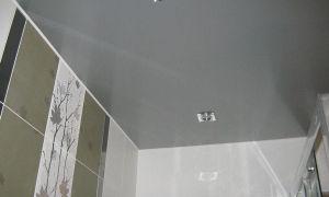 Плюсы и минусы натяжных потолков в ванной. Выбор типа особенности монтажа
